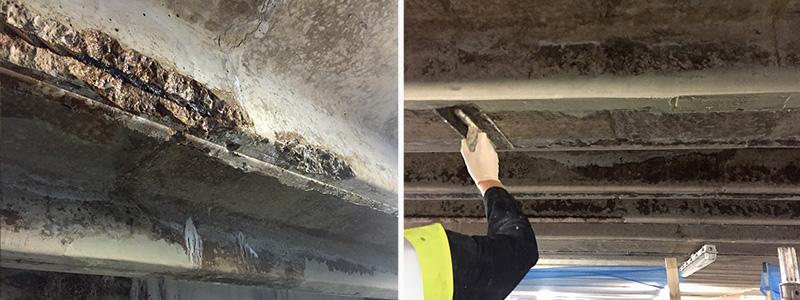 Overhead Concrete Spalling Repair