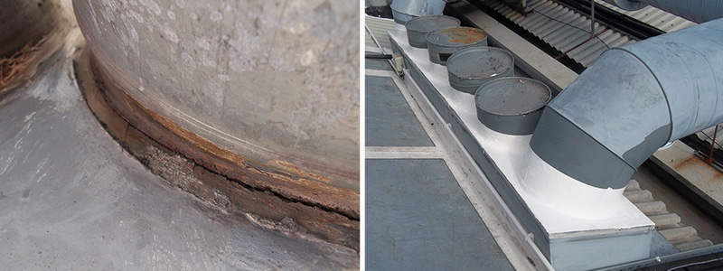 Roof Penetration Water Leak Sealing