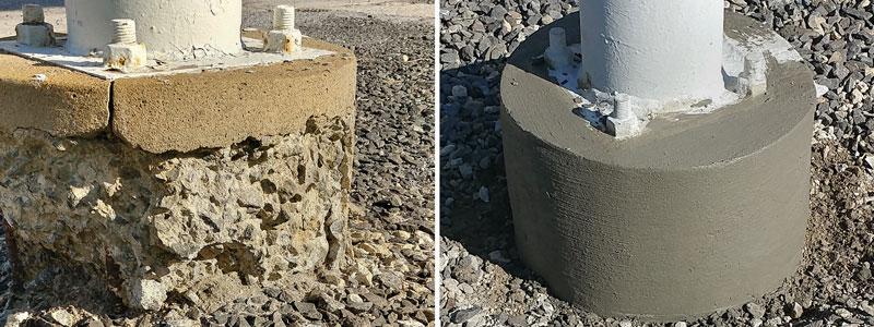 Concrete Base Rebuild