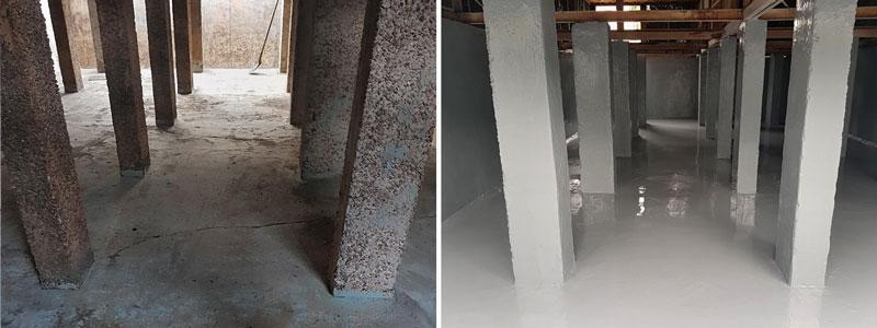 Cooling Tower Basin Repair and Coating