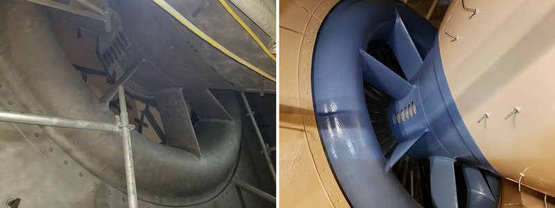 Gas Turbine Inlet Scroll and Bellmouth Protective Coating