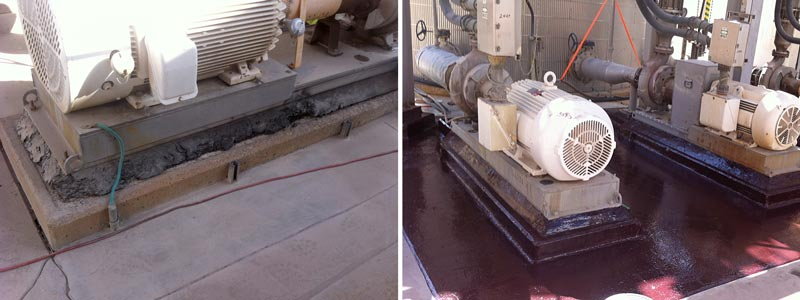 Pump Base Rebuild and Protective Coating