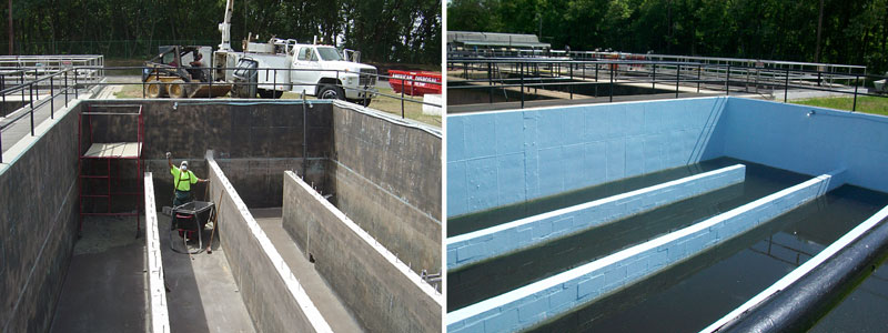Protective Coating for Concrete Aeration Tank