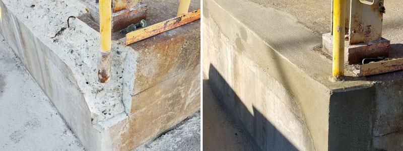 Handrail Grout Repair