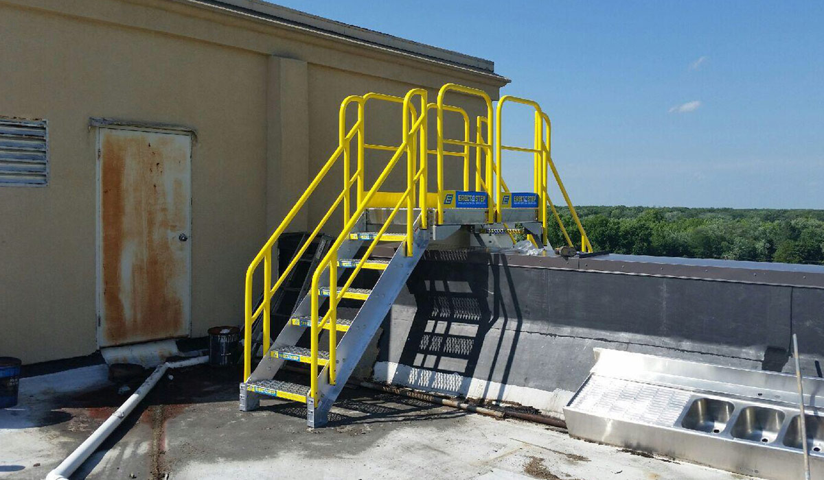 erectastep rooftop crossover stairs