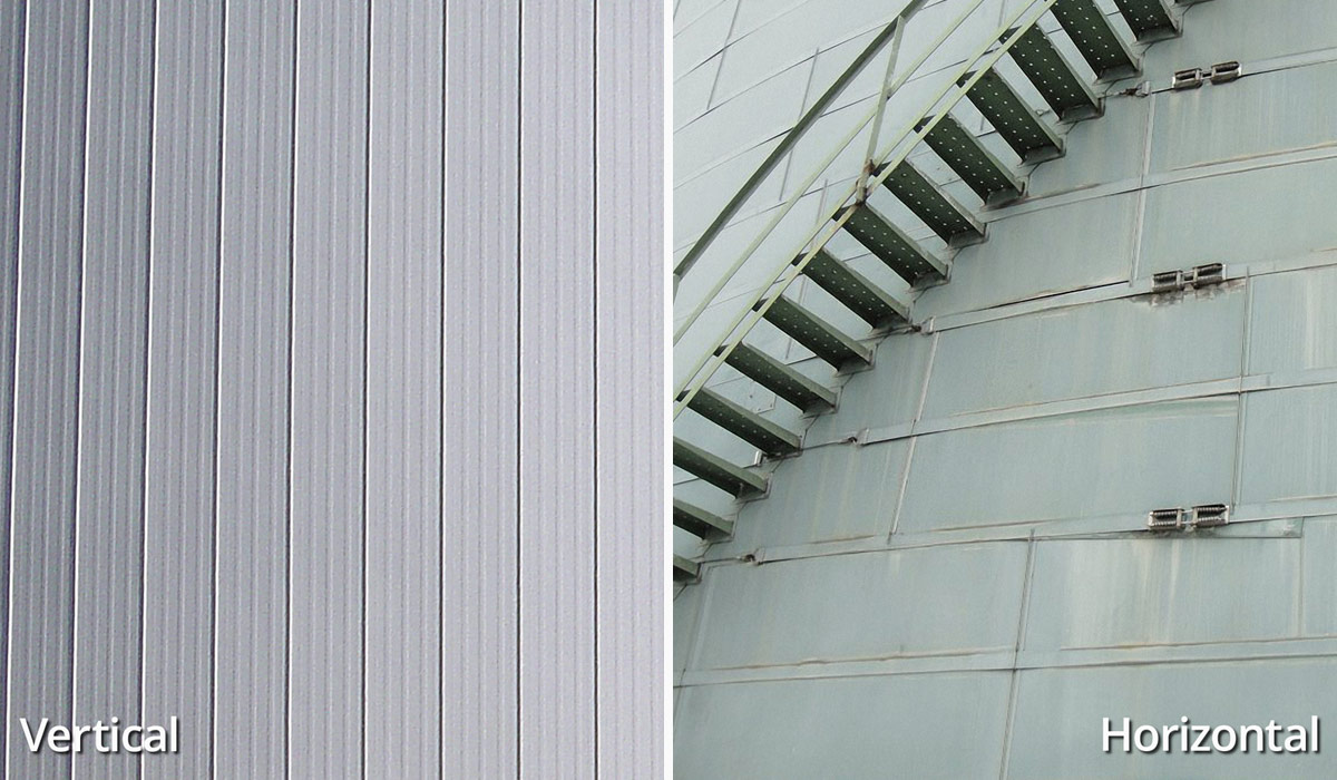 vertical and horizontal tank insulation panel comparison