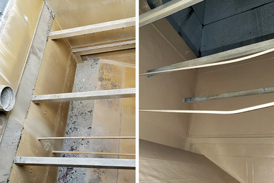 cooling tower coating before and after