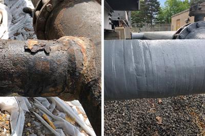 corrosion repair of water circulation pipe