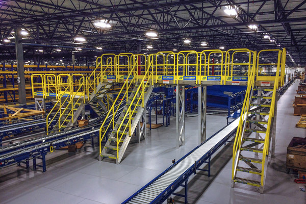 ErectaStep Crossover Stairs for Conveyor Belt