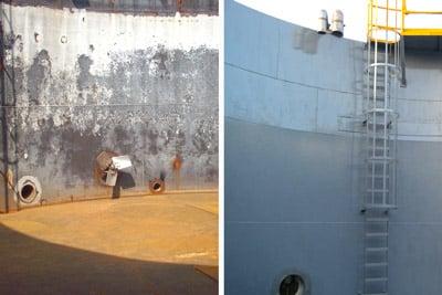 storage tank interior protective lining