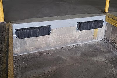 loading dock concrete repair example