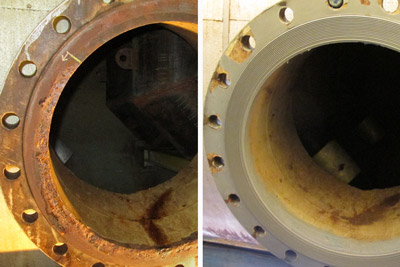 Large flange face rebuild
