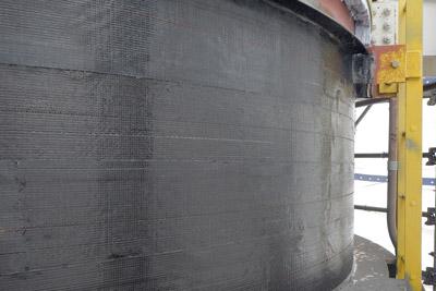 Fiber Wrap Tank Wall Corrosion Repair