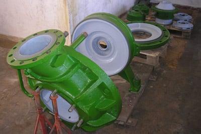 Pump efficiency coating