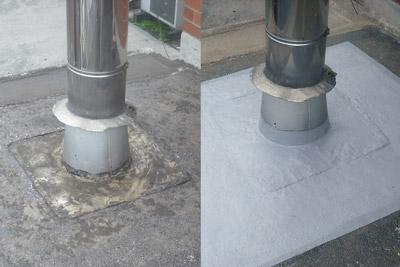 Belzona seals leaking roof protrusion