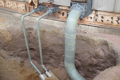 Soil Line Pipe Corrosion Prevention System
