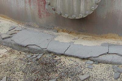 Cracked Tank Base Concrete
